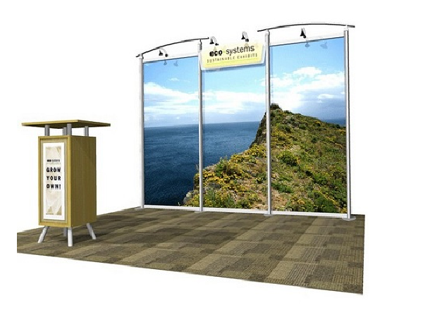 10' x 10' eco-systems lahar Display