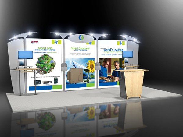 10' x 20' Exponents air 10x20 Display