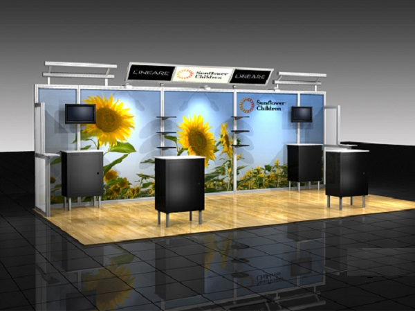 10' x 20' abex alumalite lineare Display