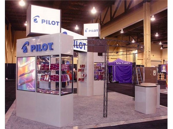 Exhibition Booth Games : Pilot pen island trade show exhibit display
