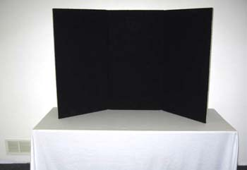 3 Panel Black Table Top