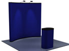 8 foot fabric, pop up, display