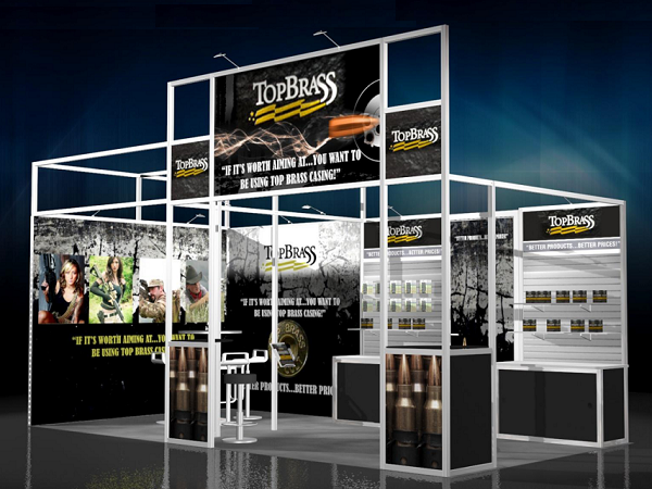 20' Top Brass Rental Display