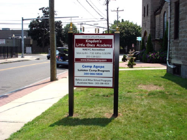 Outdoor Ground Sign Post And Multi Panel Signs By CDS Graphics